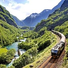 Norway's Flam Railway - amazing views and spectacular scenery!  Loved this train ride!