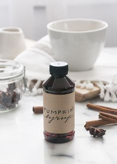 homemade pumpkin spice latte syrup. gotta try//
