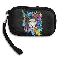 Feather Lion Women's Zipper Small Wallet Purse Porte-monnaie Clutch Cards Holder Wallet Purse Business Card Wallet   #me