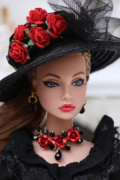 """Spicy in Spain Poppy Parker"" by Isabelle from Paris Beautiful Barbie Dolls, Pretty Dolls, Fashion Royalty Dolls, Fashion Dolls, Poupées Barbie Collector, Barbie Et Ken, Manequin, Poppy Parker, Chic Chic"