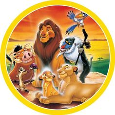 The Lion King Group Edible Cake Image – Build a Birthday Images Roi Lion, Lion King Images, Lion King Pictures, Lion King Theme, Lion King Party, Lion King Birthday, Cute Disney, Baby Disney, Disney Art