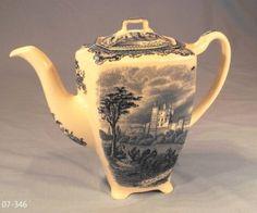 Johnson Bros Vintage Old Britain Castles Teapot
