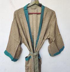 Silk Robe Long, Silk Kimono Robe, Long Kimono, Festival Outfits, Festival Clothing, Wedding Kimono, Wedding Sari, Bridesmaid Robes, Bridesmaids