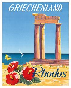 Rhodos: Griechenland, Greece c.1954 Gicléedruk