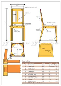 #1706 Dining Chair Plans - Furniture Plans