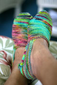 Ravelry: Turkish Bed Socks pattern by Churchmouse Yarns and Teas: uses one skein of Koigu (KPPPPM)