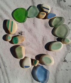 Original Glaze Sea Ceramic Cornflower Genuine Sea Glass Gems Beach Jewlery Jq | Crafts, Glass & Mosaics, Beach Glass - Surf-Tumbled | eBay!