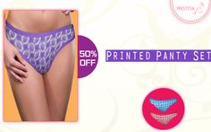 Get 50% off on Printed Panty Set, comfortable and having Nice Print. Shop now on http://www.prestitia.co.in/details/printed-panty-set-in-assorted.html