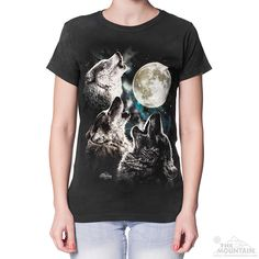 a5be9581 The Mountain Three Wolf Moon Women's T-Shirt Three Wolf Moon Shirt, Wolf T