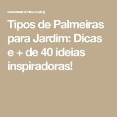 Tipos de Palmeiras para Jardim: Dicas e + de 40 ideias inspiradoras!