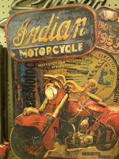 Indian m/c wall art -Bad to the Bone!