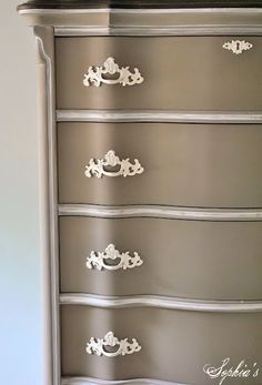 Last summer, I repainted an old dresser that I used as a child to go in my master bedroom makeover. ..
