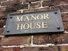 Lead House Sign Rectangular with edge beading 19 x or 19 x These lead signs are suitable for or 3 lines of text in Roman font. Letters can be le House Name Plaques, House Name Signs, House Names, Home Signs, English Country Manor, English House, Town And Country, Country Life, Country Houses