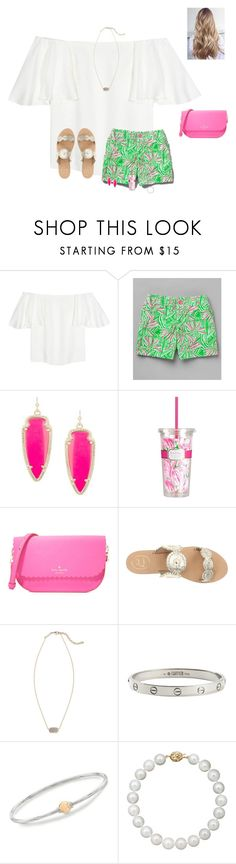 """""""Shawn's music video got me like """" by raquate1232 ❤ liked on Polyvore featuring Valentino, Lilly Pulitzer, Kendra Scott, Kate Spade, Jack Rogers, Cartier, Cape Cod and Belle de Mer"""