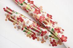 Embroidered han-eri. han-eri: decorative collar on under-kimono