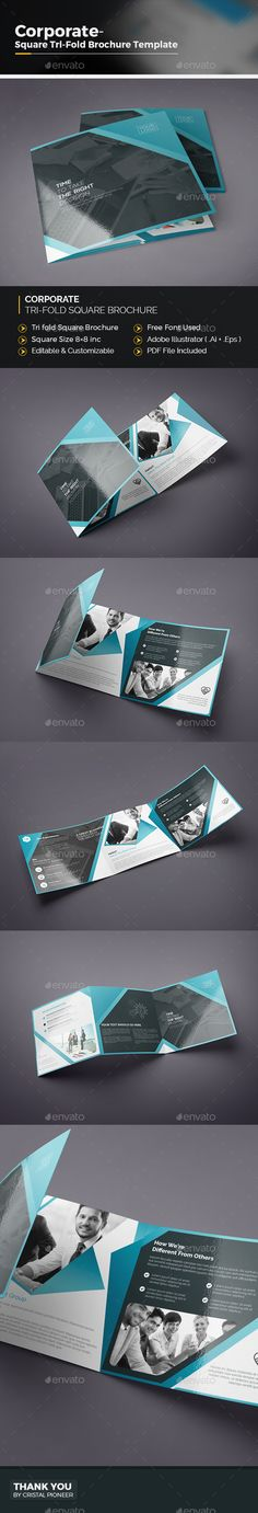 Tri Fold Square Brochure See More Best Ideas About Illustrators