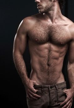 This guy, in my opinion, has the perfect amount of body hair. Sexy and hot all over! I would like to follow that hair trail all the way down with my tongue.