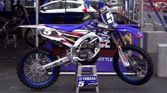 USA graphics on a yz250f