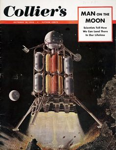 Collier's October 18, 1952, cover by Chesley Bonestall