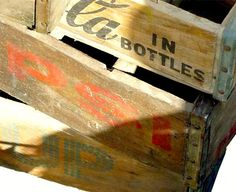 Heavy duty old wooden crates or apple boxes