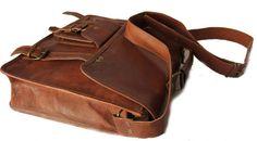 Handmade leather bag laptop messenger SALE 15 inches vintage look leather messenger laptop bag for men Leather Briefcase, Leather Satchel, Sharp Dressed Man, Leather Bags Handmade, Laptop Bag, Messenger Bag, Shoulder Strap, Mens Fashion, Pure Products