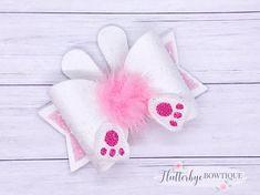 Bow Template Bunny Tail Cute Bows Diy Ribbon Diy Bow Ribbon Bows Ribbons How To Make Bows Boutique Bows Fabric Hair Bows, Diy Hair Bows, Diy Ribbon, Ribbon Bows, Ribbon Flower, Fabric Flowers, Ribbons, Bow Template, Barrettes