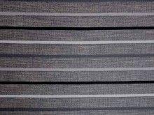 Railroad Stripe Jacquard Charcoal Slate White Upholstery Fabric - The Millshop Online