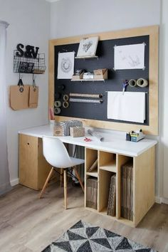 Home Office Space, Home Office Design, Home Office Decor, Art Studio At Home, Studio Room, Craft Room Design, Study Room Decor, Workspace Inspiration, Home Office Organization