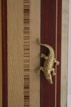 marchettimaison.com decori handle collection D93 COCCODRILLO crocodile gold end bronze color