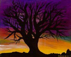 Purple tree art