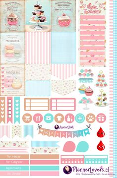 Baked With Love - Printable Stickers by AnacarLilian