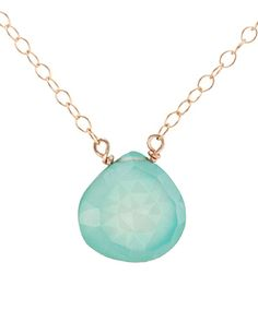 Mint Chalcedony Gold Necklace by Olive Yew