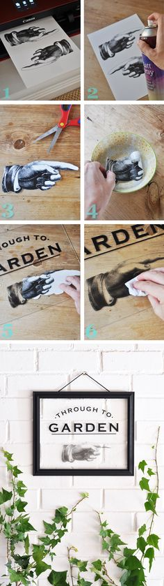 How to transfer images onto glass - plus free printable sign artwork