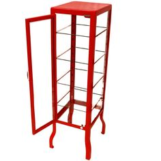 Dulton Doctor's Cabinet Single Red