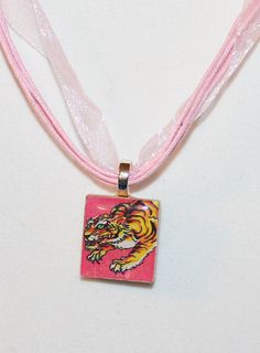 Japanese Tiger Ed Hardy Tattoo Inspired Scrabble Tile by GreyGyrl, $5.00