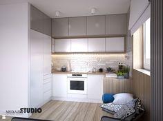 aneks kuchenny w małym mieszkaniu - zdjęcie od MIKOŁAJSKAstudio - Kuchnia - Styl Skandynawski - MIKOŁAJSKAstudio