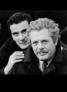 Massimo Troisi e Marcello Mastoianni. Attori.
