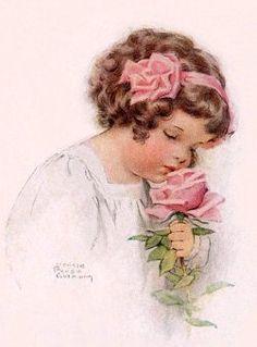 Rose girl - Bessie Pease Gutmann