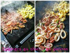 Calamars au chorizo et poivron / La Plancha Eno