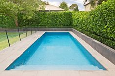 Carpenter St Brighton Swimming Pool, Spa & Landscape Project - Home and Garden Decoration Inground Pool Designs, Backyard Pool Designs, Backyard Garden Design, Swimming Pool Designs, Swimming Pool Landscaping, Small Backyard Pools, Backyard Landscaping, Landscaping Ideas, Pool Spa