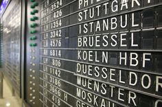 Schedule sign at Frankfurt airport by Robert Scoble, via Flickr
