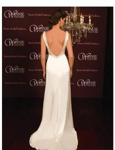I have a thing for back drama when it comes to wedding gowns