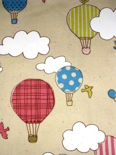 2 loves in one : hot air balloons & fabric