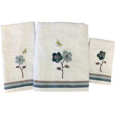 Mainstays Dragonfly 3-Piece Towel Set