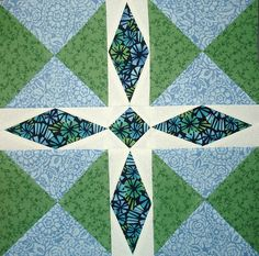 """""""Minnesota Star """" Quilting block July 2012 002 by Happy 2 Sew, via Flickr"""