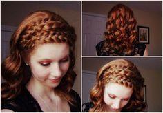 Might be a good idea for renaissance hair while I'm an assassin - Catching Fire: Katniss Everdeen Inspired Hair Tutorial Katniss Everdeen Hair, Katniss Hair, Pretty Hairstyles, Braided Hairstyles, Updo Hairstyle, Braided Updo, Wedding Hairstyles, Renaissance Hairstyles, Good Hair Day