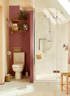 Une salle de bains bohème sous les toits | Leroy Merlin Bathroom Suite, Home Decor Accessories, Cheap Home Decor, Hippie Home Decor, Small Bathroom, Home Deco, Bathroom, Bathroom Decor, Bathroom Inspiration