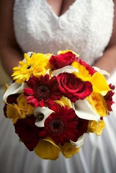 37 best red yellow wedding ideas images on pinterest fiestas this was a great pic of a color mixture red yellow and white for the bouquet red and yellow wedding flowers mightylinksfo