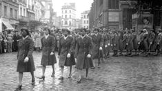Members of the all black female - 6888th Battalion in Rouen