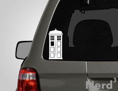 I NEED THIS!!!!Tardis vinyl car decal  For macbooks laptops car by NerdCubed, $5.00